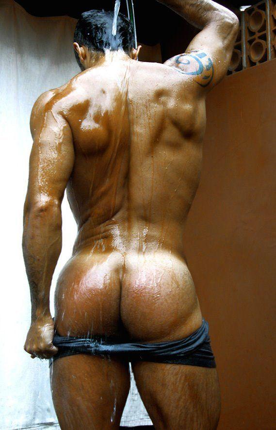Friend naked shower
