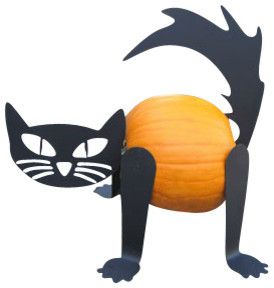 Pumpkin Cat Kit eclectic-outdoor-holiday-decorations