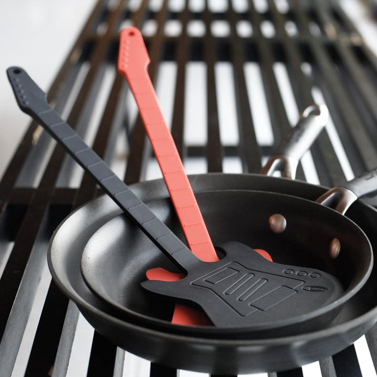 Guitar Flipper Spatula: Perfect for the musician that loves to cook! Get it HERE: http://www.thegiftsformen.com/guitar-flipper-spatula.php