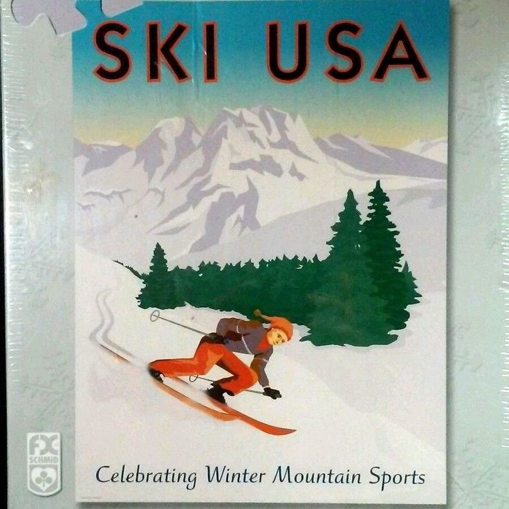 Ski USA Puzzle FX Schmid 1000 Piece Snow Mountain Winter Sports Olympics Skier