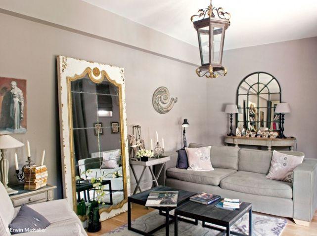 les miroirs sont les meilleurs alli s d un petit espace chambre salon entr e osez m me un. Black Bedroom Furniture Sets. Home Design Ideas