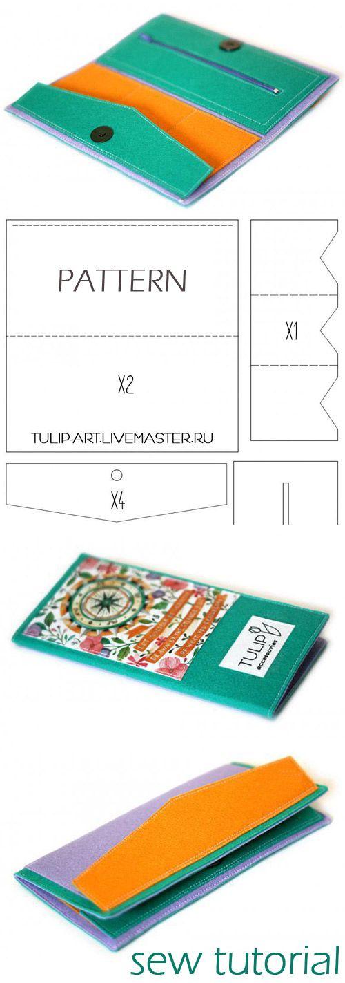 Simple Felt Purse - DIY Crafts Tutorial   http://www.free-tutorial.net/2017/01/simple-felt-purse-tutorial.html