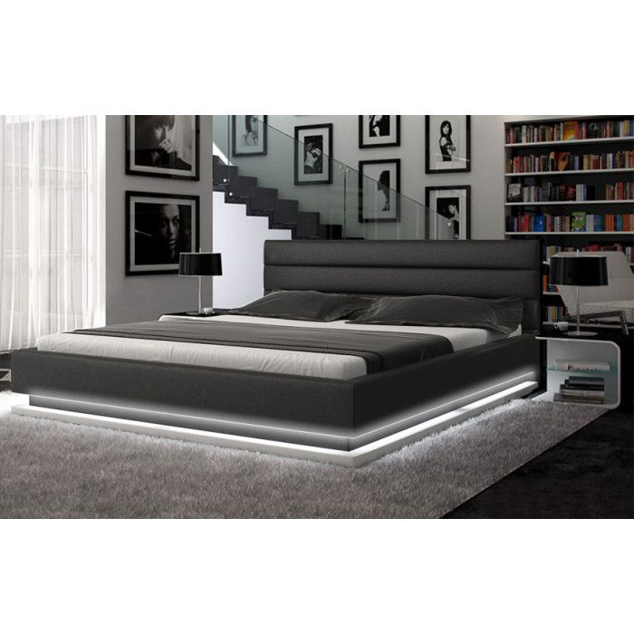 Infinity Contemporary Black Platform Bed W Lights In 2020 With
