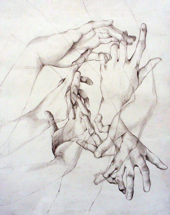 Cet un dessin où on peut voir des mains entrecroiser. Lorsque j'ai vu ce dessin j'ai été très impressionnée, car il est très dur de réaliser des mains. J'ai beaucoup aimé ce tableau parce que je trouve que les mains sont très bien réussi et très réaliste et cela m'a beaucoup impressionné.