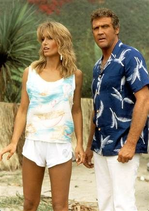 Heather Thomas, in The Fall Guy (with Lee Majors)