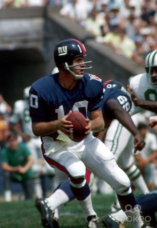 New York Giants quarterback (10) Fran Tarkenton 1969