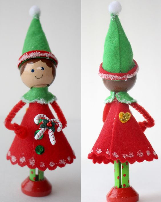 genevieve santa's tiniest elf tutorial{from the craft place}