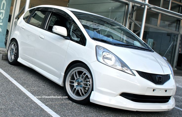modified honda fit jazz with enkei rpf1 wheels 2nd. Black Bedroom Furniture Sets. Home Design Ideas