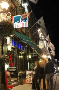 Le feu sacré Steakhouse  68½ rue St-Louis, Vieux-Québec  Très bon!!