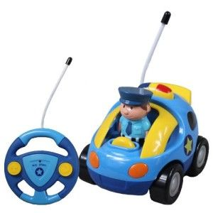 Cartoon R/C Police Car Radio Control Toy for Toddlers by Liberty Imports