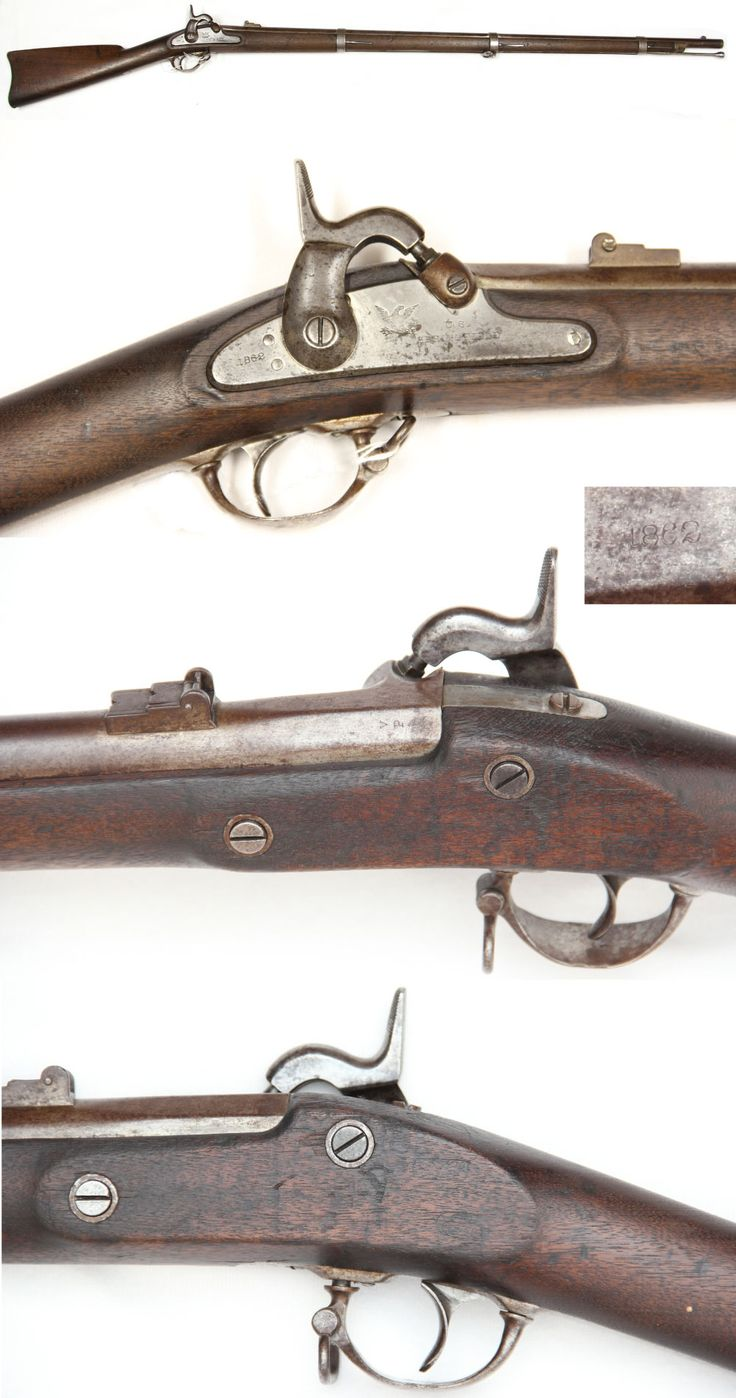 Civil War Weapons: Produced in 1861 and 1862 at the Springfield Armory in Massachusetts, the Springfield rifle used coiled grooves inside the barrel that spun a .58 caliber Minie Ball accurately up to 400 yards. Rifles such as the Springfield and Enfield changed warfare forever by restricting movement and forcing soldiers to dig into the ground for cover.