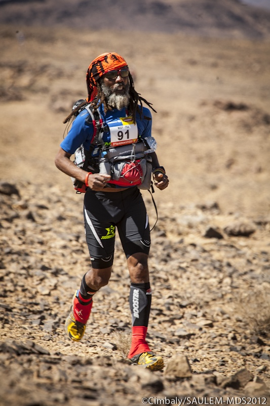 competitor on #SultanMarathonDesSables 2012 #Morocco