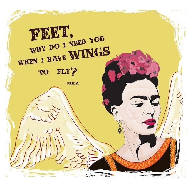 Hair Ideas Zeitschrift: Frida Kahlo Illustration