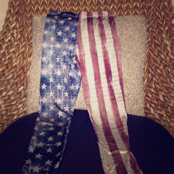American flag leggings :) Fun spunky Small American flag leggings , if you love Lana Del Rey you will love a pair of these ❤️ Envy Us  Pants Leggings