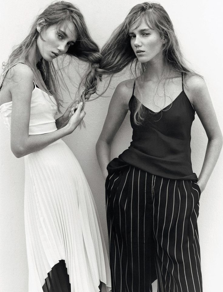 Twin Sisters: Amalie Moosgaard & Cecilie Moosgaard by Koto Bolofo for Numéro #170 February 2016