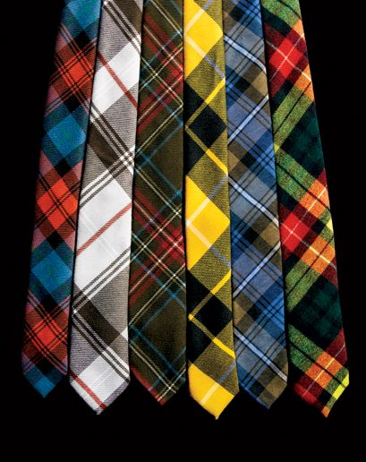The Scottish Tartan or American Plaid Ties.           From left to right we have                              Black Fleece by Brooks, Brothers, Polo Ralph Lauren, David Hart & Co., Gitman Vintage and Alexander Olch. Truly Men's Fashion Pioneers!