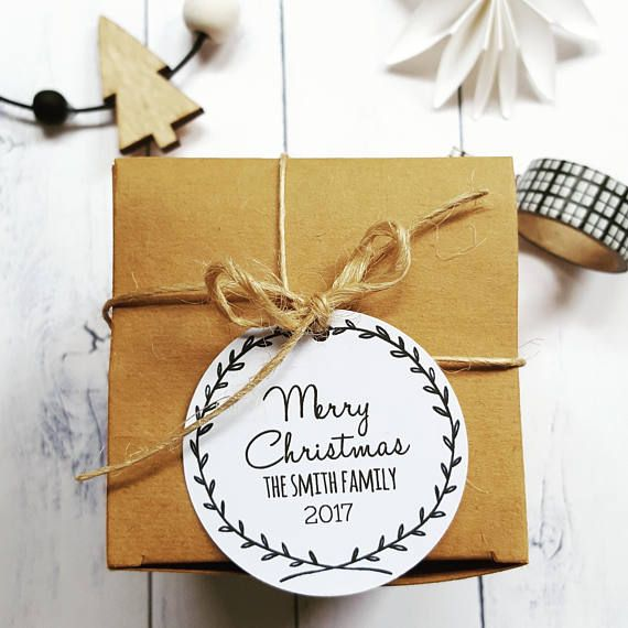 I love modern Christmas Gift Tag - perfect for my black white Christmas #ad