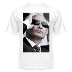 Купить Мужская футболка Путин в очках
