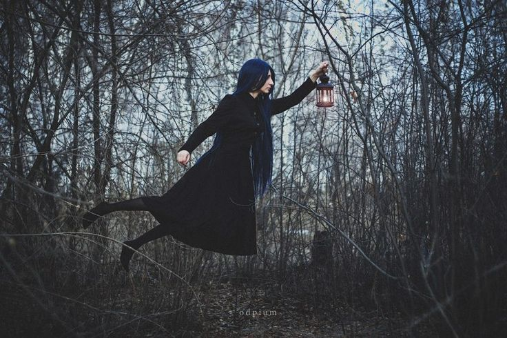 #odpium #levitation #girl #forest #witch