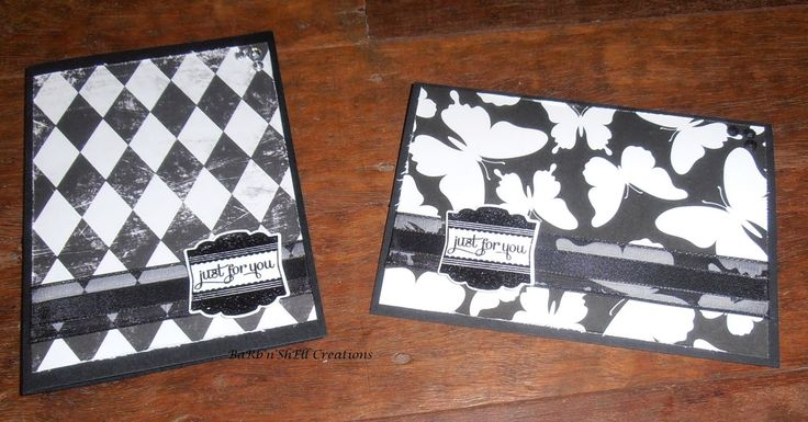 BaRb'n'ShEllcreations - Cards created using leftover pieces for card fronts - made by Shell