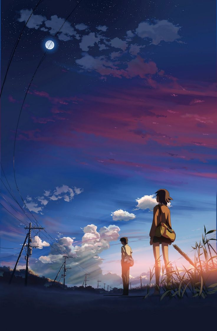 5 cm. per second - Makoto Shinkai film. Personally didn't really like this movie, but it was visually beautiful.