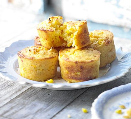 Cornbread muffins. These savoury snacks are brilliant for picnics and lunchboxes - plus they can be frozen ahead