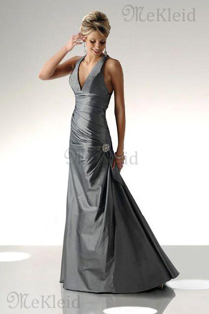 Retro ärmellos Empire Taille Anständiges Rückenfrei Abendkleid - Bild 1