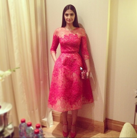 Sonam Kapoor at Opening Gala Dinner Cannes 2013
