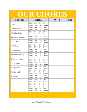 house rules chart template - sharing household chores between roommates or siblings is
