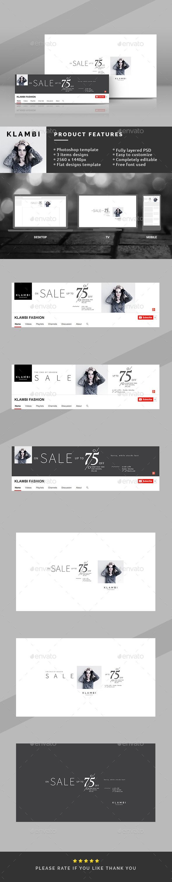 The End of Season Sale Youtube Covers  — PSD Template • Only available here ➝…