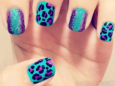 Leopard print nails cute nails pretty leopard nail art leopard nails