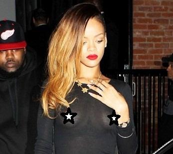 Rihanna hizo el ridículo al mostrar todo en vestido traslucido, Noticias, chismes, chismes de famosos, noticias de celebridades, cotilleo, Gossip, News, Famosos, Estrellas