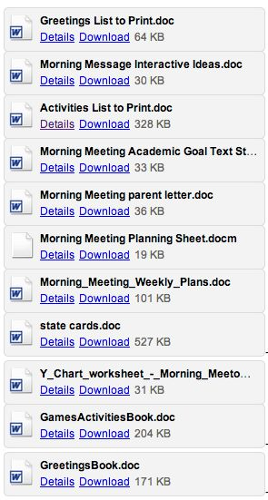 1000 images about morning meetings on pinterest for Morning meeting lesson plan template