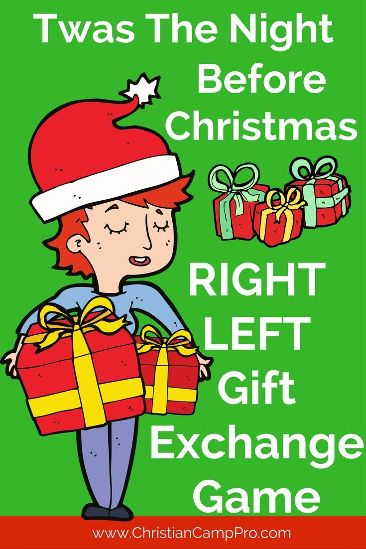 """Are you looking for a fun an exciting way to have a Christmas gift exchange? Try playing the """"Twas The Night Before Christmas Gift Exchange Game!"""