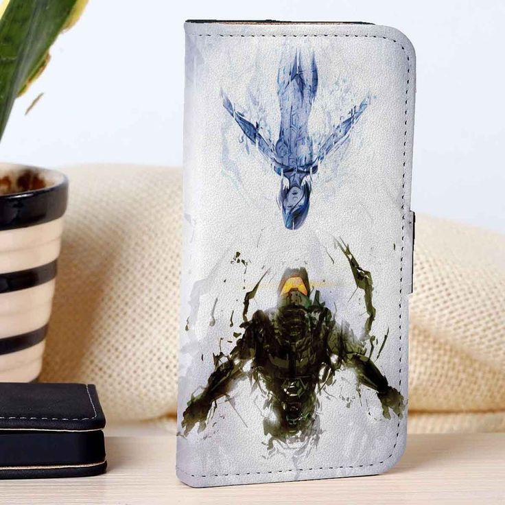 Master Chief and Cortana | Halo | Video Games | custom wallet case for iphone 4/4s 5 5s 5c 6 6plus case and samsung galaxy s3 s4 s5 s6 case - RSBLVD