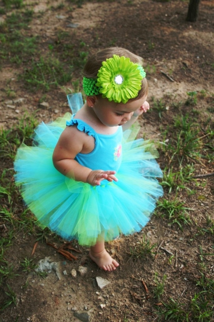 Salt Water Taffy Tutu Baby Toddler First Birthday Custom Made With Matching Flower Headband. $28.00, via Etsy.