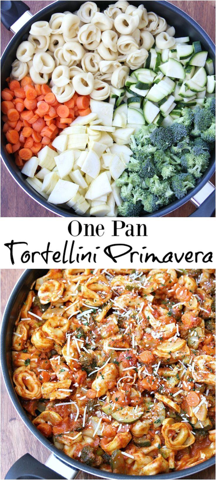 One Pan Tortellini Primavera