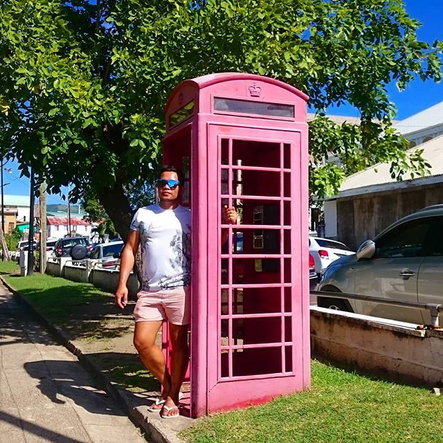 #redphonebox on a tropical island that British Queen gets everywhere #pinoytraveller #Pinoy #filipino #Travel