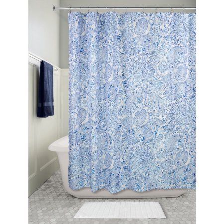 Home Paisley Shower Curtain Fabric Shower Curtains Curtains