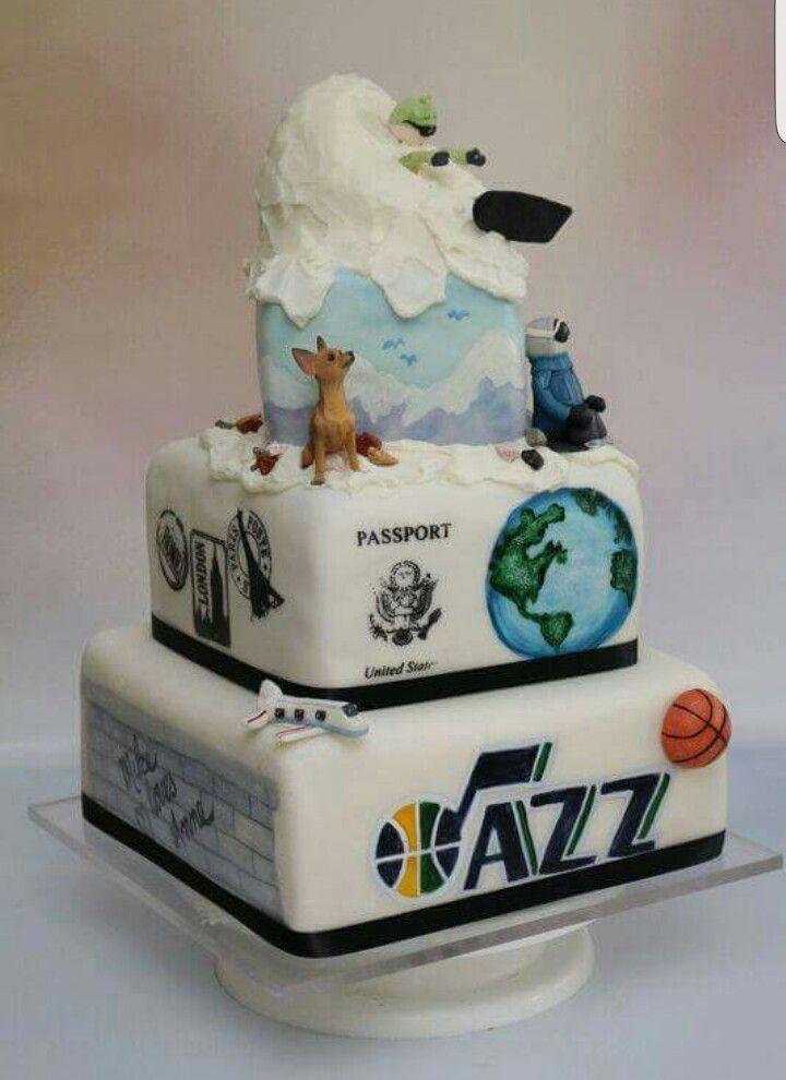 Grooms Cake Utah Jazz Skiing Wedding Cake By Carriescakes Com Grooms Cake Cake Amazing Cakes
