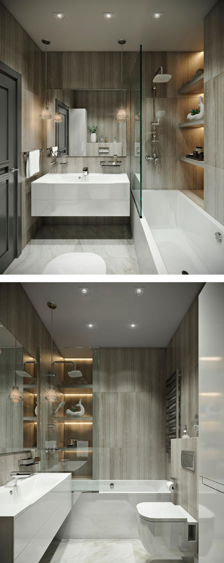 Modern American Style Bathroom By Olga Osadchaya Interior Design Course Student In European School Kiev Ukraine