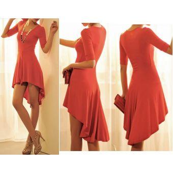 Robe Courte asymétrique ==> 19.00 euros. - bestyle29.com