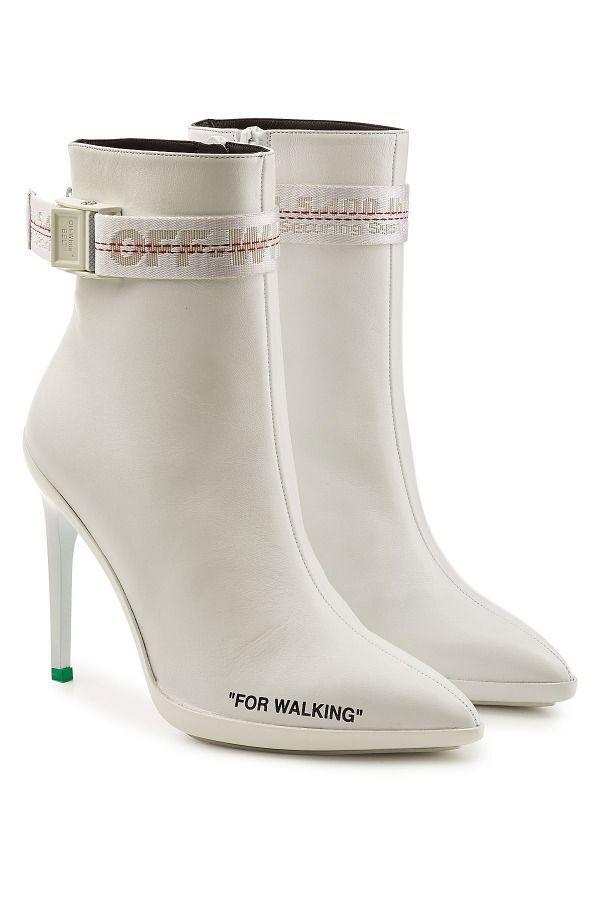 For Walking Leather Ankle Boots von Off-White #Damen #Schuhe #Stiefel #Schuhe #Weiße ...