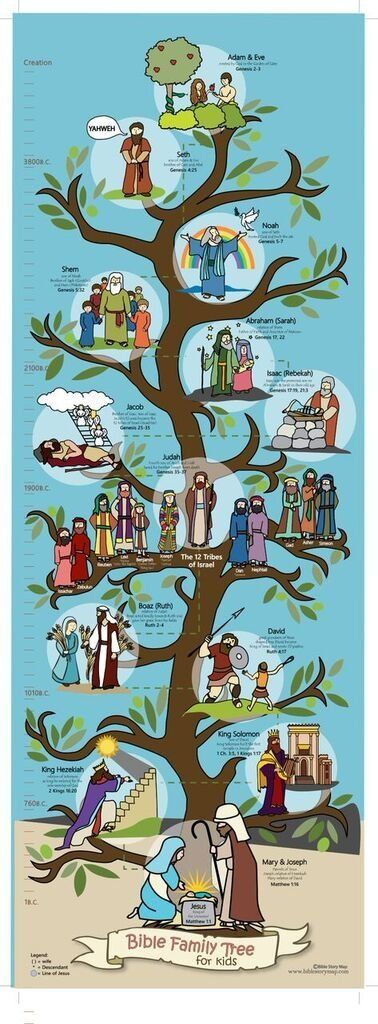 "Bible Family Tree and Timeline for Kids, 13.75"" X 39"" Poster"