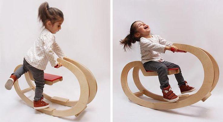 Una mecedora de diseño para niños