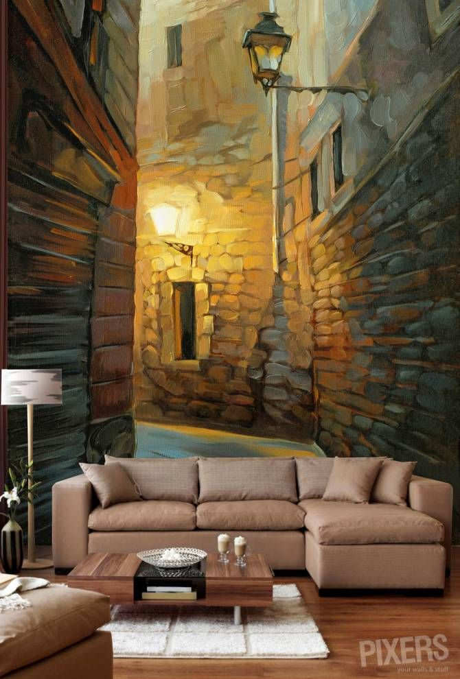 Barcelona. Wallpaper murals that transform a room. They're all amazing