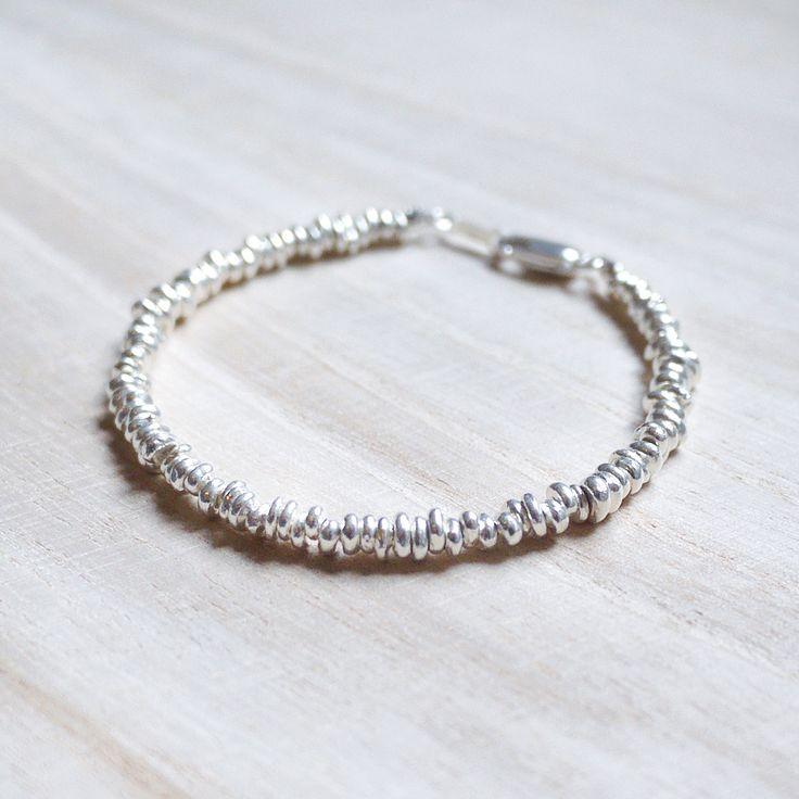 Silver Lining - Irregular Circular 925 Sterling silver bracelet