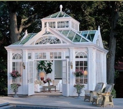 white free standing solarium southern style pinterest gartenh user und pavillon. Black Bedroom Furniture Sets. Home Design Ideas