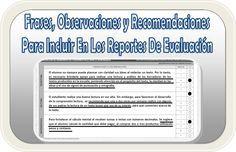 Frases, observaciones y recomendaciones para incluir en los reportes de evaluación - http://materialeducativo.org/frases-observaciones-y-recomendaciones-para-incluir-en-los-reportes-de-evaluacion/