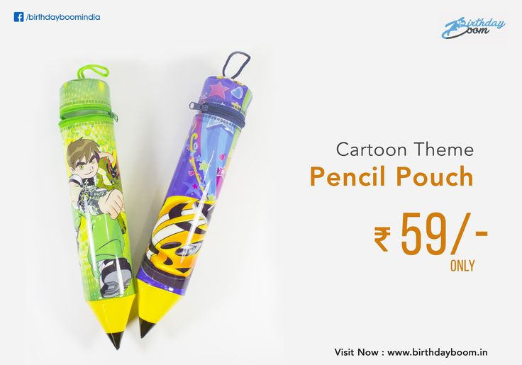 Cartoon theme Pencil shape Pouch for kids. Best birthday return gift, good quality and useful for your kids.  Get it Here : http://www.birthdayboom.in/bags-pouches/  #birthday #returngifts #birthdayboom #kids #childrens #birthdayparty #partyfun